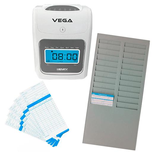 86b3efa59 Relógio Ponto Vega com chapeira de 24 Lug. e 100 cartões - Loja do Ponto