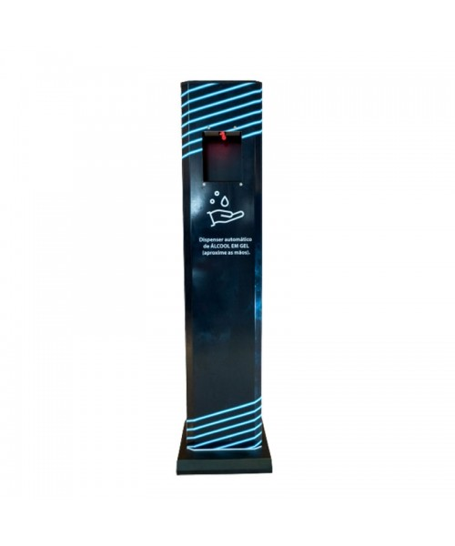 Totem Dispensador Automático de Álcool Gel Personalizado 1,20M