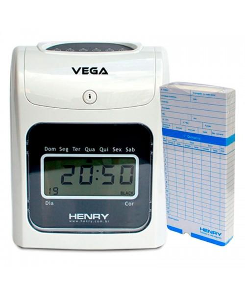 Relógio Ponto Vega com 150 cartões ponto